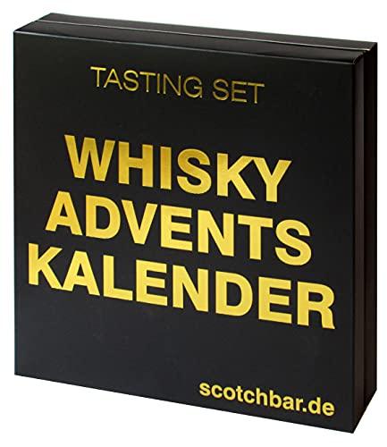 Whisky Adventskalender in edler Geschenkbox exklusiv von scotchbar – 24 hochwertige Whisky aus Schottland,...