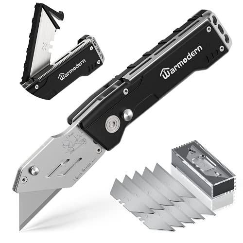Warmodern Cuttermesser, Teppichmesser Profi, Professional Universalmesser, Universal Klappmesser mit...