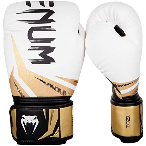 Venum Challenger 3.0 Boxhandschuhe, Weiß/Schwarz/Gold, 10 oz