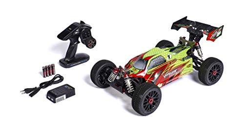 Carson 1:8 Virus 4.1 4S BL2.4G 100%RTR Neongelb, Ferngesteuertes Auto, RC Fahrzeug, inkl. Batterien und...