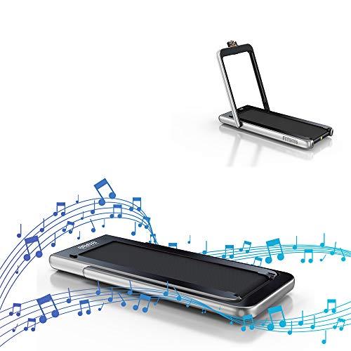 Fitifito ST100 Edles Laufband Profilaufband 1.0-12 km/h Bluetooth Fernbedienung komplett klappbar verstaubar...