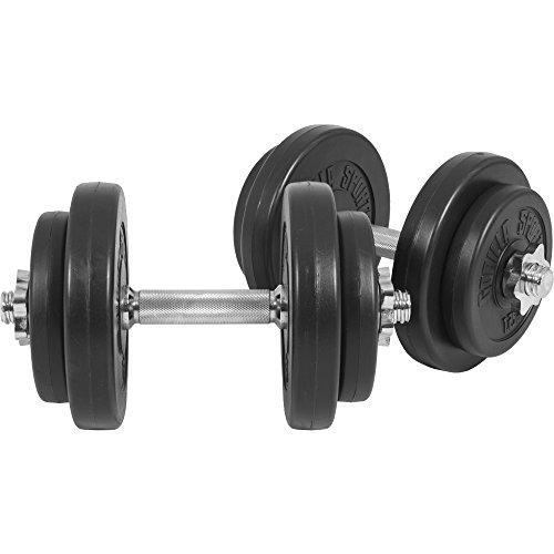 GORILLA SPORTS® Kurzhanteln 2er Set Kunststoff 20 kg – Hantelstangen, Gewichte und Sternverschlüsse...