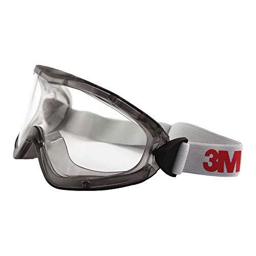3M 2890SA Vollsichtbrille, 2890er Serie, AF, UV, A, ohne Belftungsschlitze (gasdicht), Klar