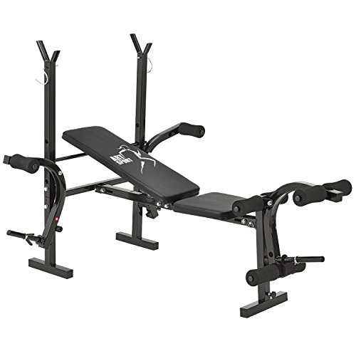 ArtSport Multifunktion Hantelbank ProfiGym 1000 klappbar & 4-Fach verstellbar Trainingsbank mit...
