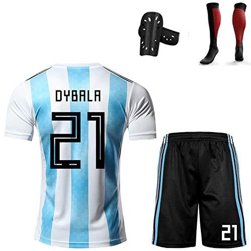 CBVB Fußball Kit für Kinder im anpassbaren Stil, Di María Dybala, Argentinien-Trikot, Fußballuniform der...