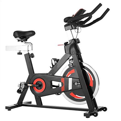 CAROMA Heimtrainer, Cycling Bike Fitnessbike Profi Heimtraining Fahrrad Spinning Bikes Speedbike LCD Display...