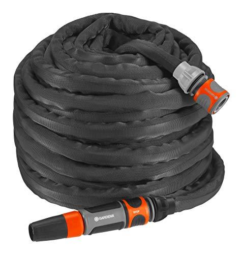 Gardena Textilschlauch Liano Set 30m: flexibler und robuster Gartenschlauch aus Textilgewebe, Schlauch ideal...