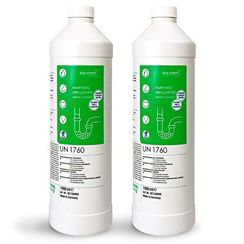 bio-chem Haar-weg Abflussfrei – Flüssiger Abflussreiniger, Rohrreiniger – Hocheffektive Formel gegen...