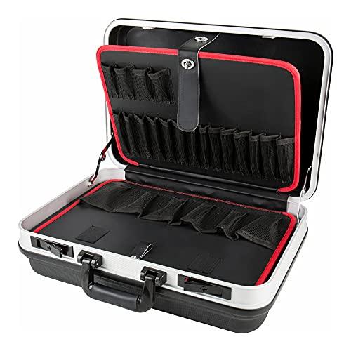 STIER Werkzeugkoffer Basic leer, ABS-Kunststoff Kofferschale, schwarze Werkzeugkiste, stabil & schlagfest,...