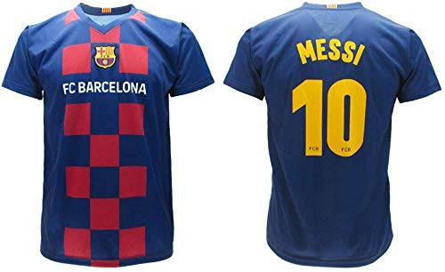 Messi 2020, Barcelona, offizielles Heim-Trikot 2019/2020, in Blisterverpackung, 10, Kinder, Erwachsene, blau,...