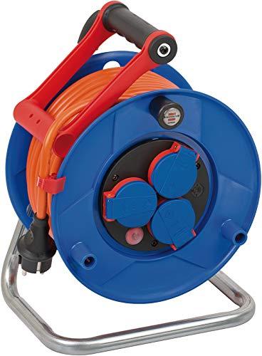 Brennenstuhl Garant IP44 Kabeltrommel (25m Kabel in orange, Spezialkunststoff, Einsatz im Außenbereich, Made...