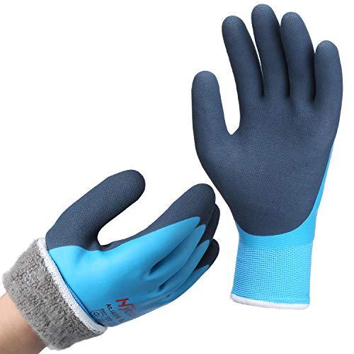 Arbeitshandschuhe Winter Wasserdicht - DS Safety Thermo Warme Winterhandschuh Montagehandschuhe Grip...