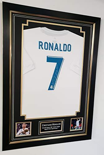www.strikeautographs.co.uk Gerahmtes Trikot mit Autogramm von Cristiano Ronaldo