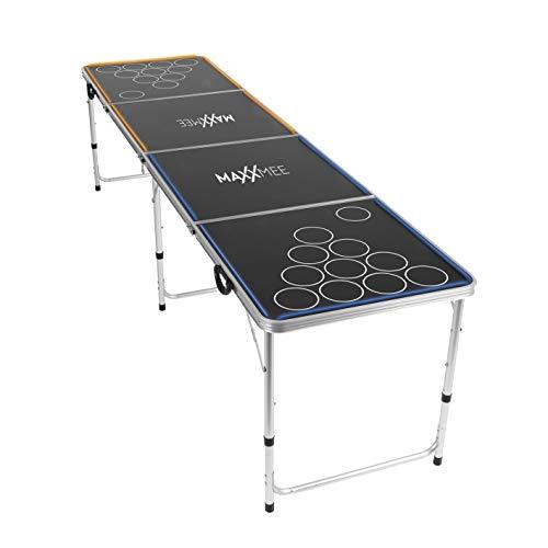 MAXXMEE Beer Pong | Tischspiel mit LED Unterbeleuchtung | Bierpong Trinkspiel | lustiges Partyspiel in- und...
