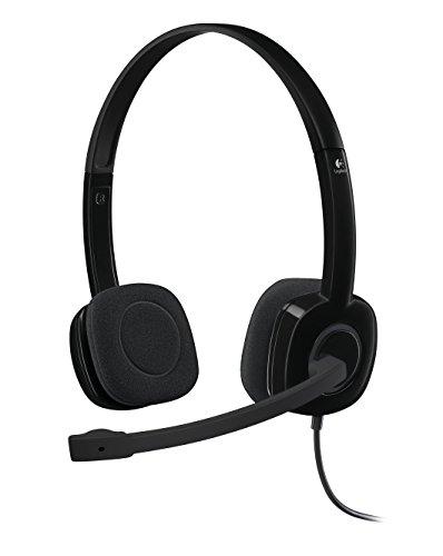 Logitech H151 Kopfhörer mit Mikrofon, Stereo-Headset, Verstellbares Mikrofon mit Rauschunterdrückung,...