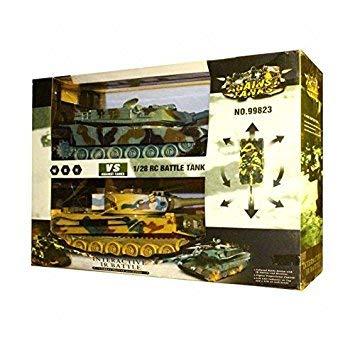 s-idee® 99823 2 x Battle Panzer 1:28 mit integriertem Infrarot Kampfsystem 2.4 Ghz RC R/C Ferngesteuerter...