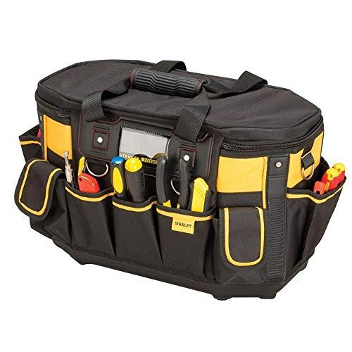 Stanley FatMax Werkzeugtasche / Werkzeugbeutel (50x33x31cm, mit runder Öffnung, formstabile Konstruktion,...