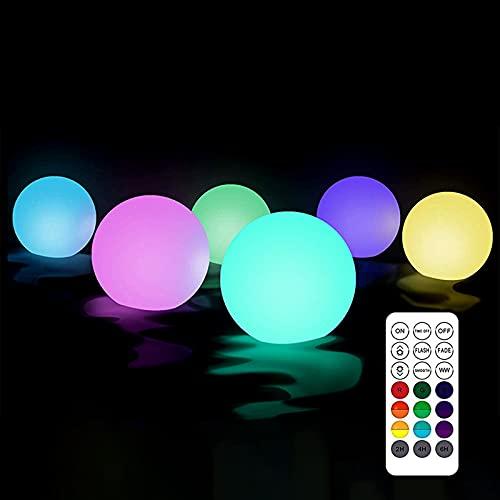 Schwimmendes Poollicht LED 6 Stück Poolbeleuchtung Licht IP68 Wasserdicht Schwimmende Poolbeleuchtung für...