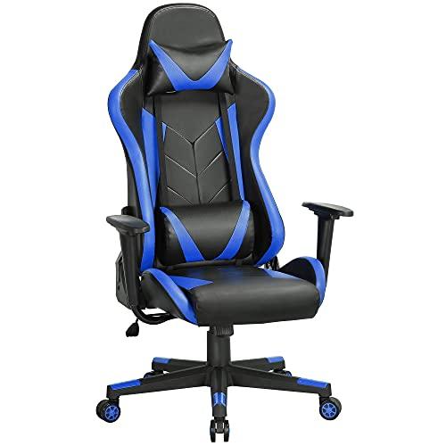 Yaheetech Gaming Stuhl Racing Stuhl Bürostuhl ergonomischer Schreibtischstuhl Drehstuhl Höhenverstellbare...
