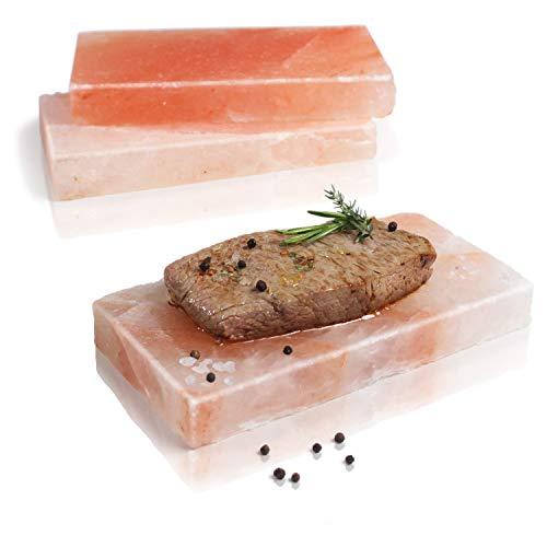 Amazy BBQ Salzstein zum Grillen (3 Stück) – Hochwertiger Grillstein aus Salz für die Zubereitung von...