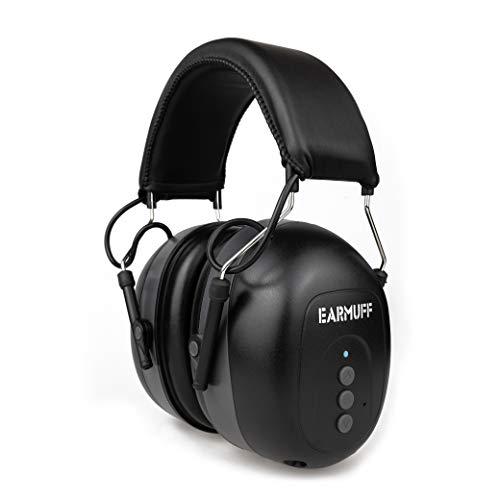 EARMUFF Gehörschutz mit Bluetooth & AUX 31dB Dämmung   Musik & andere Medien vom Handy hören  ...