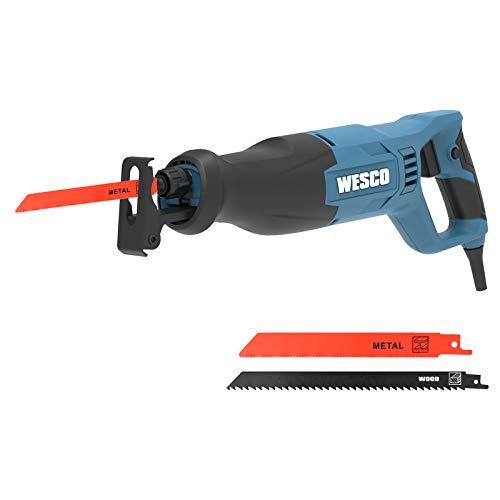 Säbelsäge, WESCO 800W Professionale Universalsäge, 0 bis 2700 SPM, Schnitttiefe: 115 mm (Holz), 10 mm...