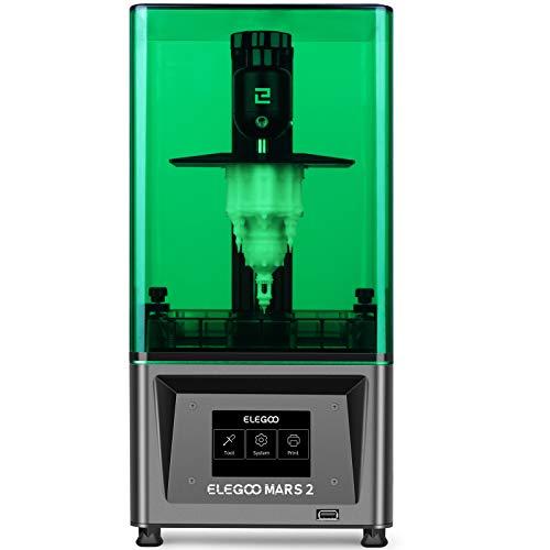 ELEGOO Mars 2 Mono MSLA 3D Drucker UV Lichthärtungs LCD Resin 3D Drucker mit 6 Zoll 2K Monochrom LCD,...