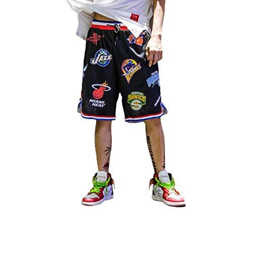 Irypulse Herren Basketballshorts aus Atmungsaktives Mesh Stoff, Sommer Straßenmode Shorts für Jugendliche...