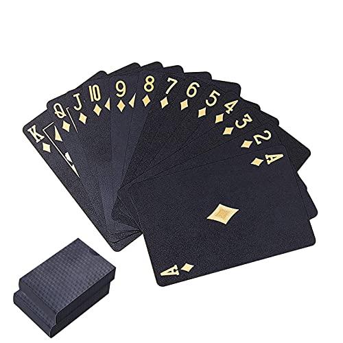 2 Decks Permium Spielkarte wasserdichte Pokerkarten Kunststoff PVC Pokerkarte Neuheit Poker Spiel Werkzeuge...