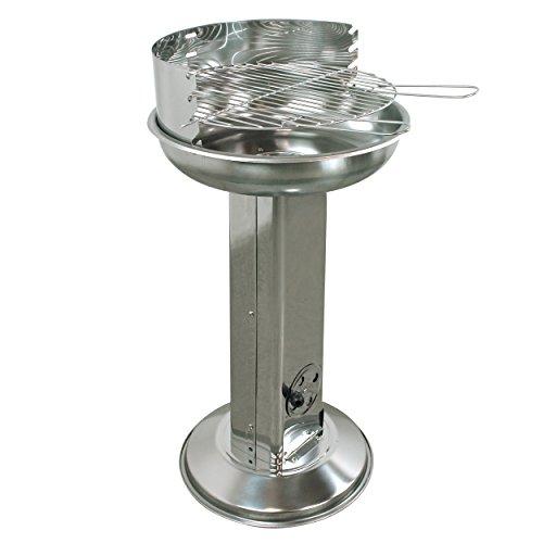 indoba IND-70531-SGCE Säulengrill'Cena' - Edelstahl - Holzkohle Gartengrill, chrom, Durchmesser 43 cm, 15 cm...