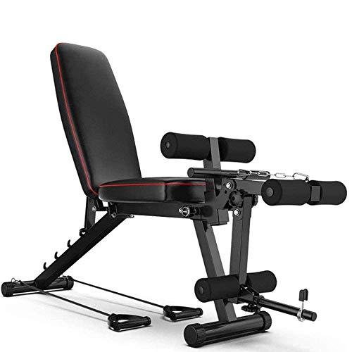 HHXX Fitness Bank Bauch Sit-up-Bank Mit Beinstrecker Und Beinbeugung Für...