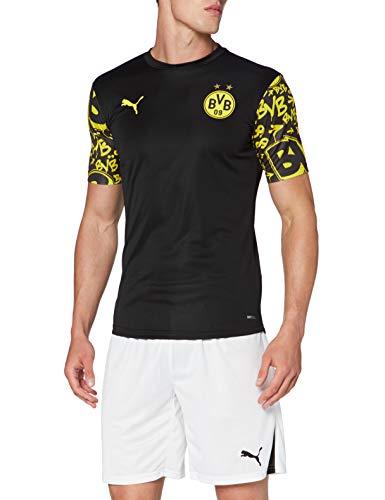 PUMA Herren T-Shirt BVB Stadium Jersey, Puma Black-Cyber Yellow-Away, L, 758135