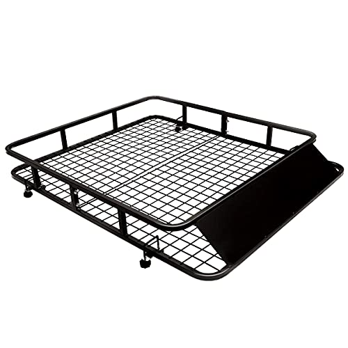 COSTWAY Dachgepäckträger Universal Dachkorb aus Stahl, Auto Gepäckträger bis 75kg belastbar, Dachträger...
