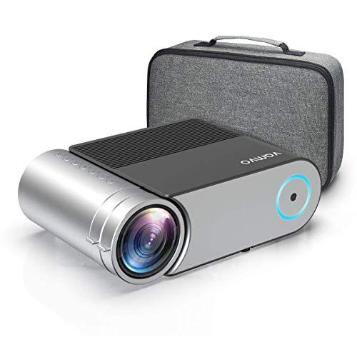Beamer, Vamvo Mini Beamer Full HD, Projektor 1280*720P mit Tragetasche unterstützt 1080P Multimedia LED 50000...