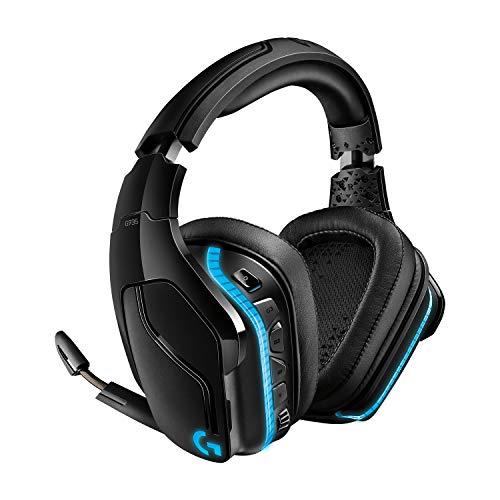 Logitech G935 kabelloses Gaming-Headset mit LIGHTSYNC RGB, 7.1 Surround Sound, DTS Headphone:X 2.0, 50mm...