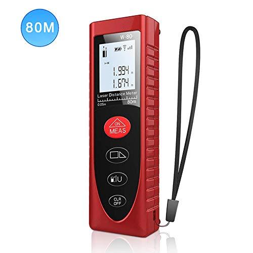 Laser Entfernungsmesser Distanzmessgerät Messbreich 0,05~80m/±2mm, Tragbares Digital Lasermessgerät mit LCD...