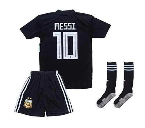 ATB Argentinien 2019/2020#10 Messi Auswärts Kinder Fußball Trikot und Shorts mit Socken Kinder und Jugend...