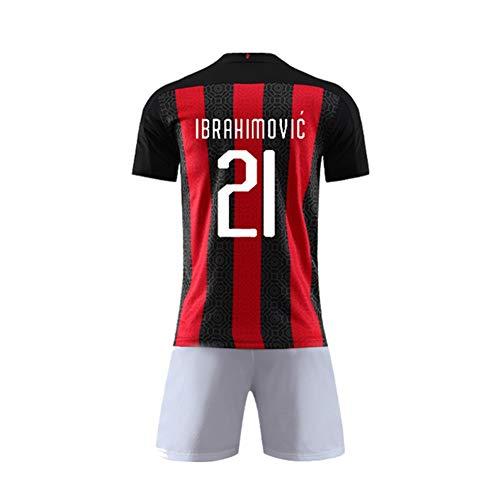 LDFN Zlatan Ibrahimović # 21 Fußball-Jersey-Set, Mesh-atmungsaktiv und schnell trocknend Sport mit kurzen...