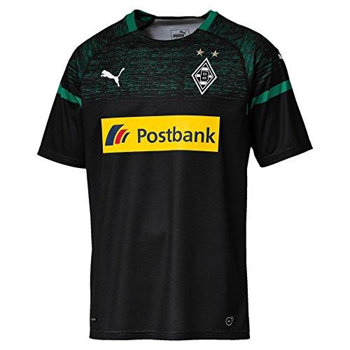 PUMA Herren BMG Away Replica with Sponsor Logo Trikot, Black/Power Green, M