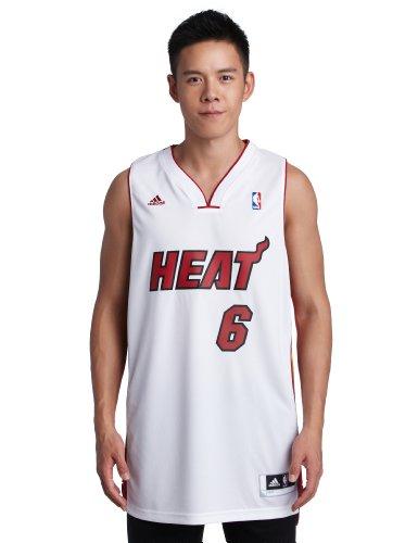 adidas NBA Miami Heat Lebron James Swingman Jersey, Weiß XXL Miami Heat