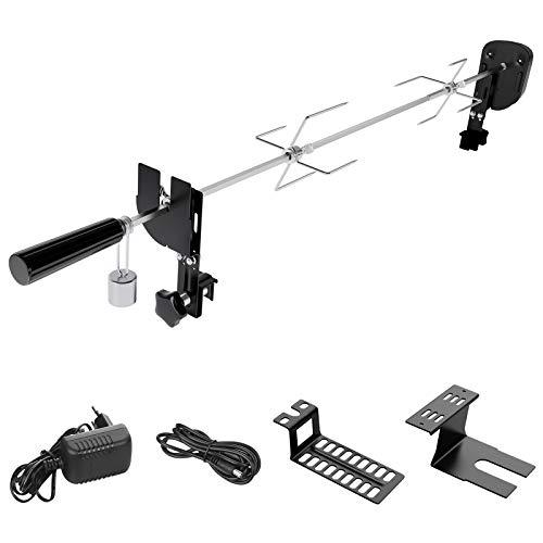 SHYOSUCCE Grillspieß Set mit 2 Fleischnadeln, Motor, USB Leitung und Adapter Verbindung, Elektrischer...