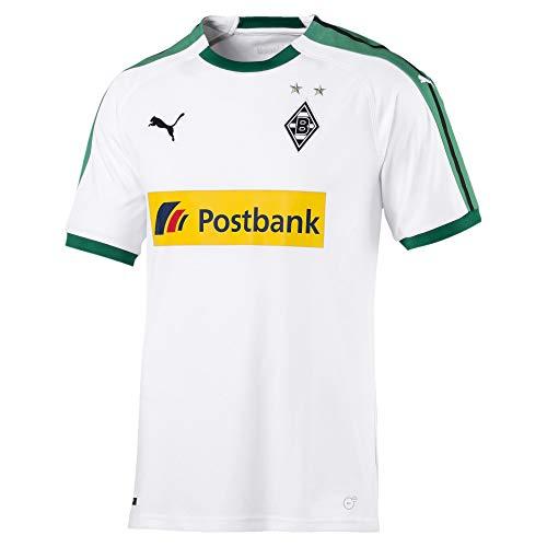 PUMA Herren Trikot BMG Home Shirt Replica with Sponsor Logo, Puma White, XL, 753451