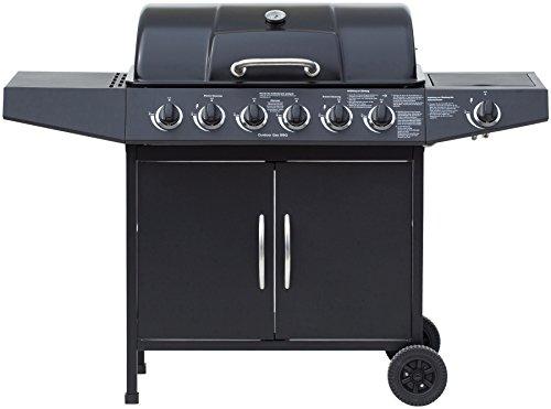 El Fuego Gasgrill, Dayton 6 Plus 1, schwarz, 54 x 133 x 97 cm, AY4601