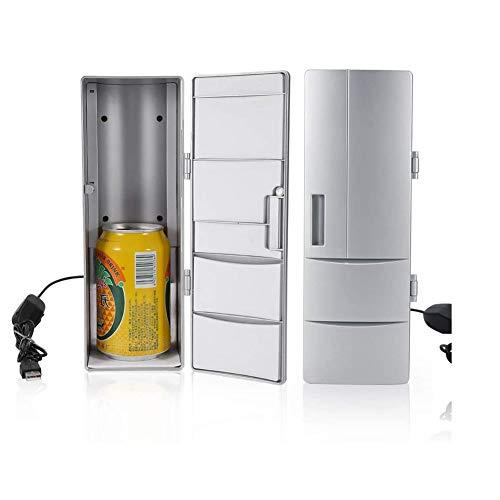 Mini-Kühlschrank-Compact Mini-USB-Kühlschrank Mit Gefrierfach Dosen Trinken Bierkühler Wärmer Reisen Auto...