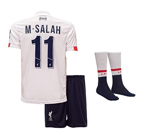 Liverpool M.Salah 2019/20 Auswärts Trikot und Shorts Kinder und Jugend Größe (140-7-8 Jahre, Auswärts)