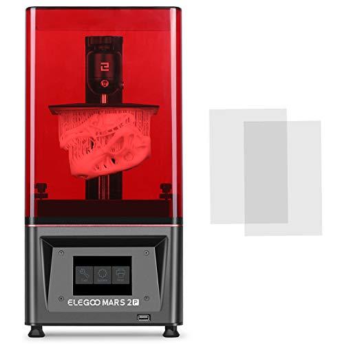 ELEGOO Mars 2 Pro Mono MSLA 3D Drucker UV Lichthärtungs LCD Harz 3D Drucker mit 6 Zoll 2K Monochrom LCD,...
