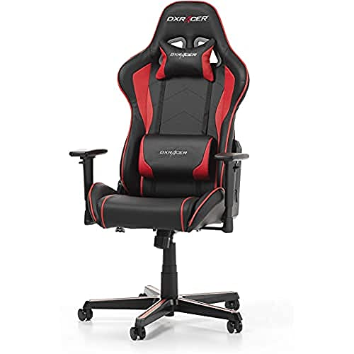 DXRacer Formula Series F08-NR Gaming Stuhl aus Kunstleder, Schwarz-Rot