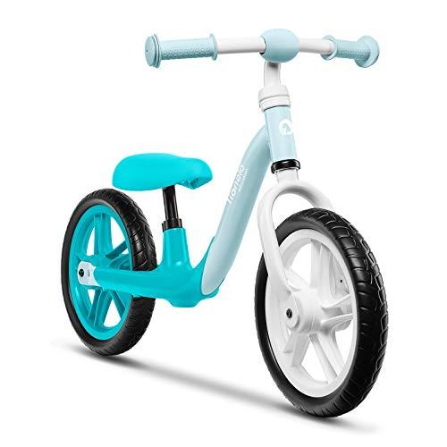 Lionelo Alex Laufrad Kinder Fahrrad bis 30 kg Sattel und Lenker einstellbar 12 Zoll Eva Schaumräder robuste...