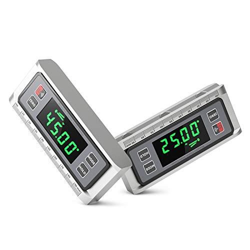 Digitaler LCD Winkelmesser Neigungsmesser Skaliertes Lineal Winkelsucher Winkelmessgerät Inklinometer Level...