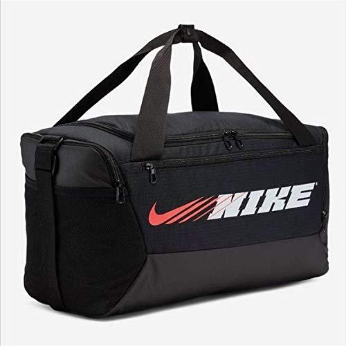 Nike Unisex Brasilia (Small) Sporttasche, Black/Black/White, One Size
